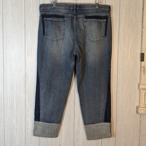 Vintage American ankle patch work jeans 16